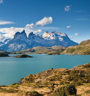 Beautiful lakes at Torres del Paine